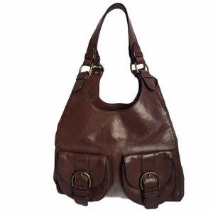 Banana Republic Brown Leather Shoulder Hobo Bag